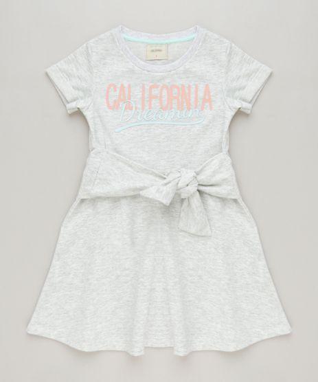 Vestido-Infantil-Curto-em-Moletom-com-No-Manga-Curta-Cinza-Mescla-Claro-9247498-Cinza_Mescla_Claro_1