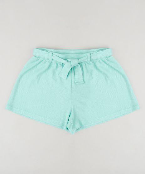 Short-Infantil-Texturizado-com-Laco-Verde-Claro-9258959-Verde_Claro_1