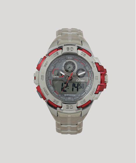80f89f5d582 Relógio Analógico Condor Masculino - CO1154BR 3R Prateado - cea