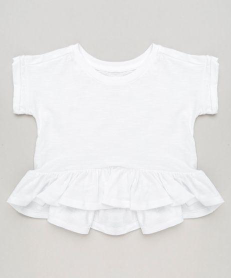 Blusa-Infantil-com-Babado-Manga-Curta-Decote-Redondo---Faixa-de-Cabelo-Off-White-9244805-Off_White_1