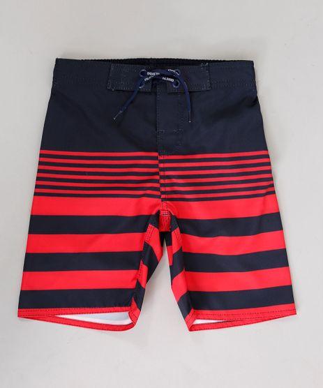 Bermuda-Surf-Infantil-com-Listras-e-Cordao-Vermelha-9243390-Vermelho_1