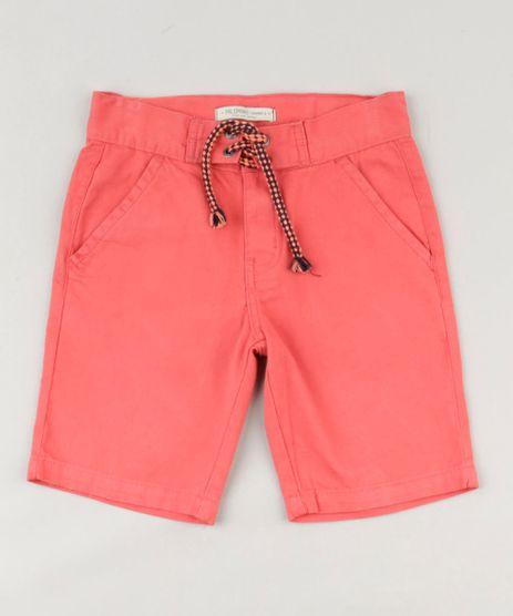 Bermuda-Color-Infantil-com-Bolsos-e-Cordao-Coral-9239846-Coral_1