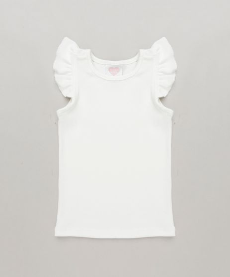 Regata-Infantil-Basica-com-Babados-Decote-Redondo-em-Algodao---Sustentavel--Off-White-8709111-Off_White_1