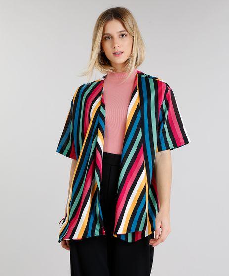 Kimono-Feminino-Listrado-Manga-Curta-Rosa-9270427-Rosa_1