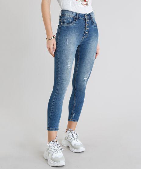Calca-Jeans-Feminina-Sawary-Skinny-Cropped-com-Puidos-Azul-Medio-9240765-Azul_Medio_1