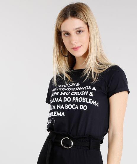 Blusa-Feminina-Signos-Libra-Manga-Curta-Decote-Redondo-Preta-9314916-Preto_1