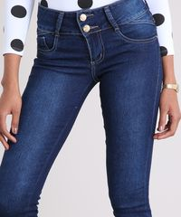 a92cc0ab8 Calça Jeans Super Skinny Sawary Azul Escuro - ceacollections