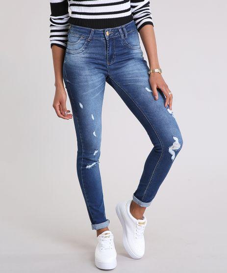 Calca-Jeans-Feminina-Super-Skinny-Sawary-Levanta-Bumbum--Azul-Escuro-9210044-Azul_Escuro_1