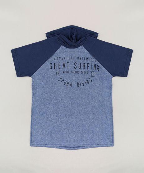 Camiseta-Infantil--Adventure-Unlimited--Raglan-com-Capuz-Manga-Curta-Azul-9272859-Azul_1