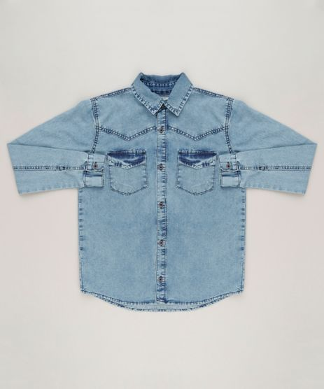 Camisa-Jeans-Infantil-com-Bolsos-Manga-Longa-Azul-Medio-9235919-Azul_Medio_1