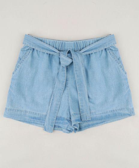 Short-Jeans-Infantil-com-Bolsos-e-Faixa-em-Algodao---Sustentavel-Azul-Claro-9182808-Azul_Claro_1
