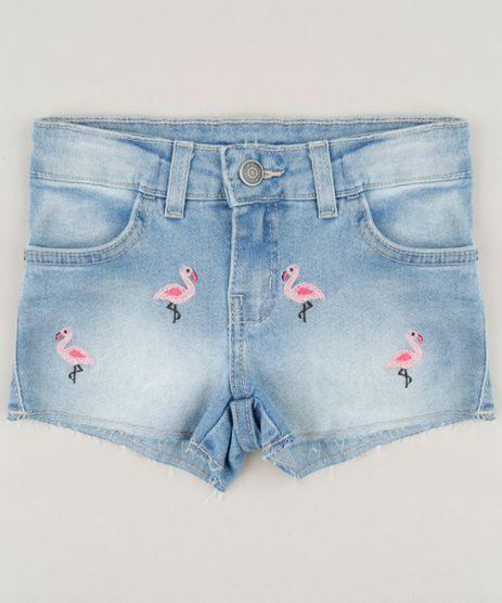 Short-Jeans-Infantil-com-Bordado-de-Flamingo-Azul-Claro-9243761-Azul_Claro_1