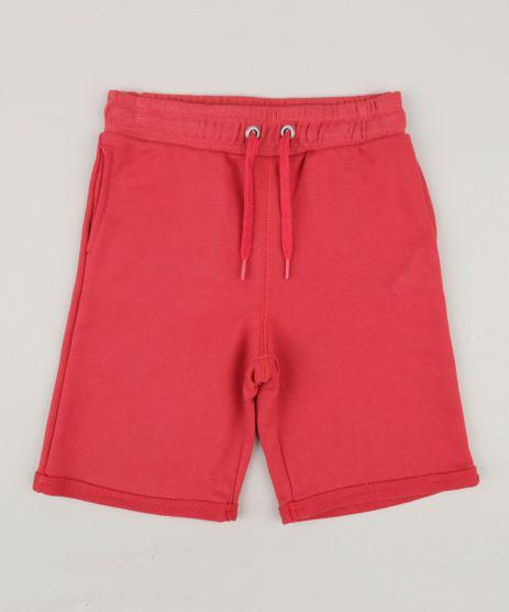 Bermuda-Infantil-Basica-com-Bolsos-em-Moletom-Vermelha-9260488-Vermelho_1