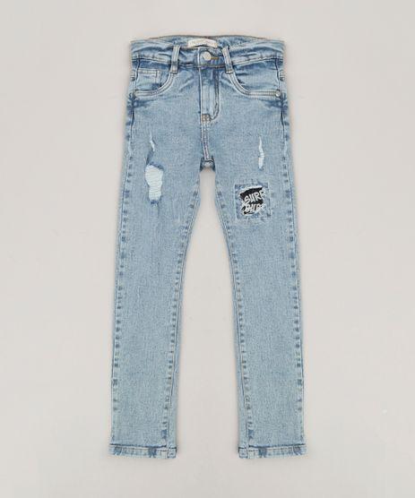 Calca-Jeans-Infantil-Super-Skinny-com-Puidos-Azul-Claro-9240109-Azul_Claro_1