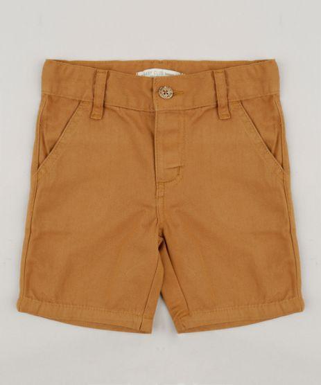 Bermuda-Color-Infantil-Reta-em-Algodao---Sustentavel-Caramelo-8277086-Caramelo_1