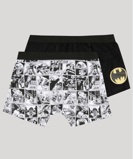 47858f5d1 Kit de 2 Cuecas Boxer Infantis Batman Multicor - cea