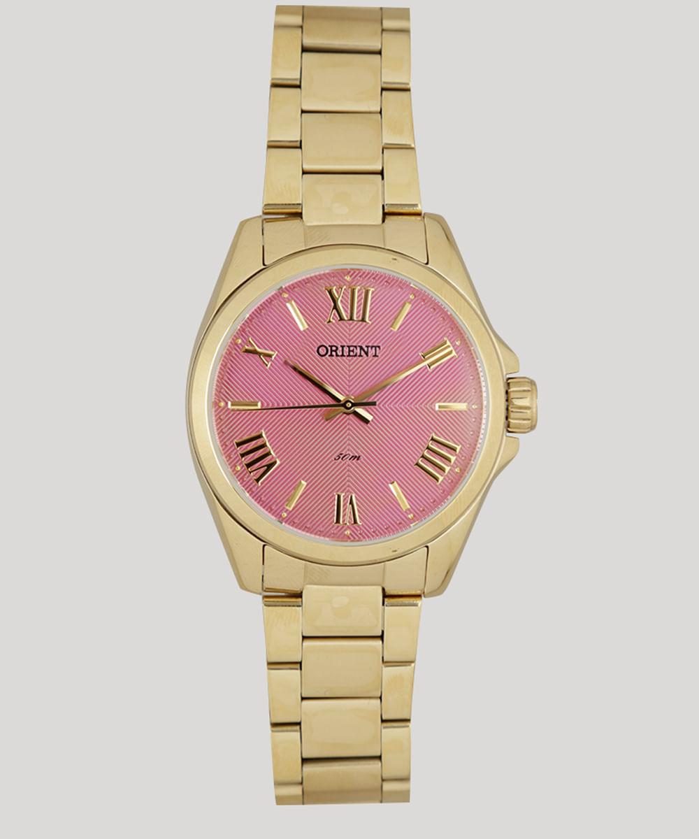 50822fb36da Relógio Analógico Orient Feminino - FGSS0079 R3KX Dourado - Único