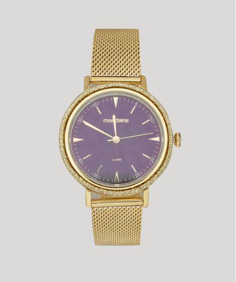 7b07c35ebc2 Relógio Analógico Mondaine Feminino - 89001LPMVDE1 Dourado - cea
