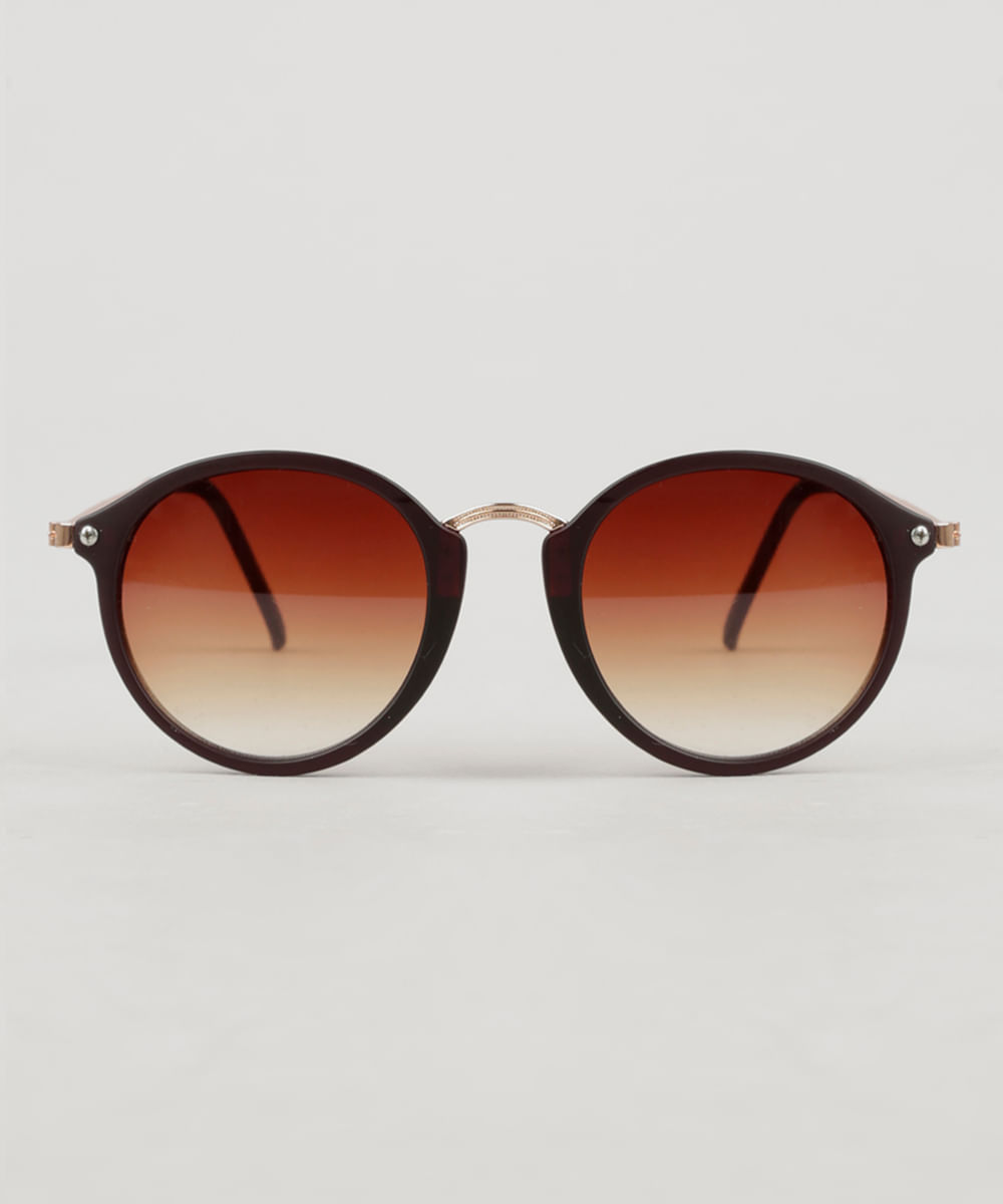 375c759450 Óculos de Sol Redondo Feminino Oneself marrom - ceacollections