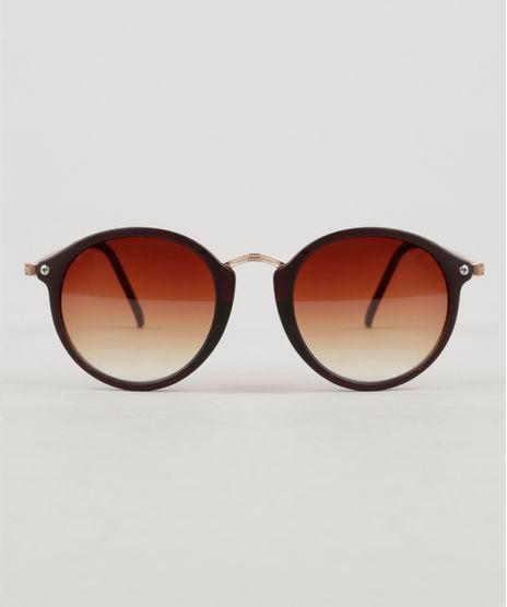Oculos-de-Sol-Redondo-Feminino-Oneself-marrom-9307237-Marrom_1