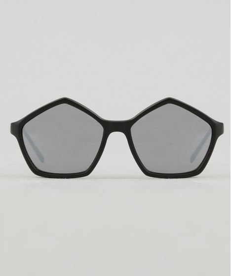 f462dda3a Oculos-de-Sol-Geometrico-Feminino-Oneself-Preto-8354359- ...
