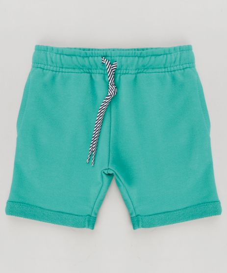 Bermuda-Infantil-em-Moletom-com-Bolsos-Verde-9262327-Verde_1