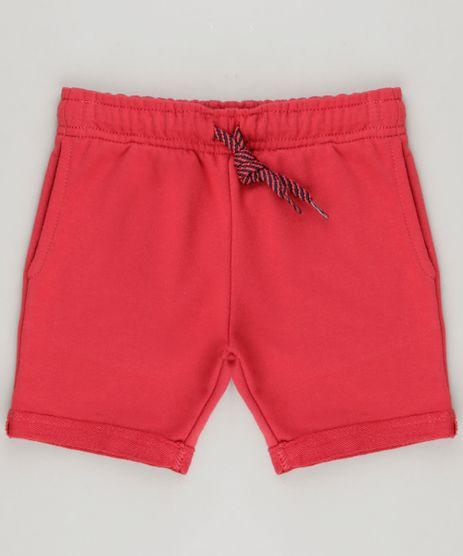 Bermuda-Infantil-em-Moletom-com-Bolsos-Vermelha-9262327-Vermelho_1