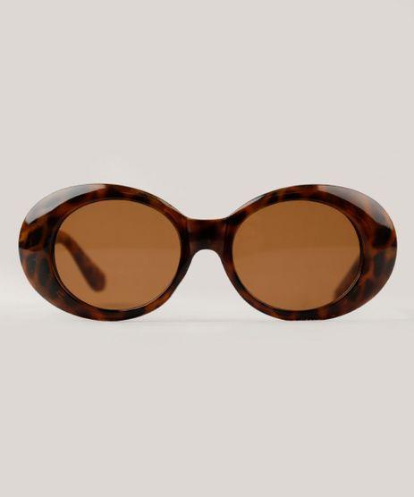 Oculos-de-Sol-Redondo-Feminino-Oneself-Tartaruga-9321015- 3f25cea5da
