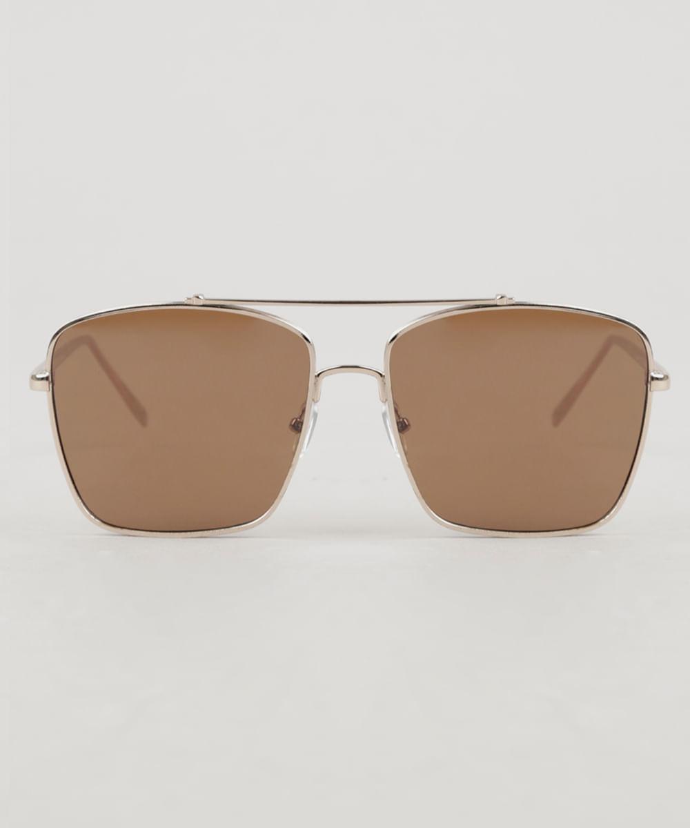 ... Oculos-de-Sol-Quadrado-Unissex-Oneself-Dourado-9307243- 272e9c34ab