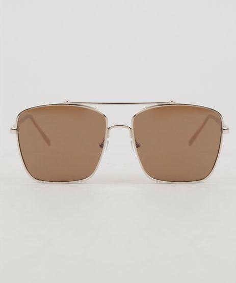 17bb14e04e47a Oculos-de-Sol-Quadrado-Unissex-Oneself-Dourado-9307243-