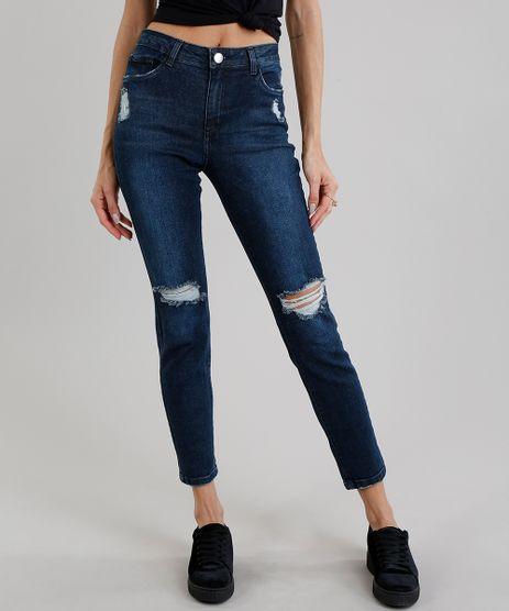 Calca-Jeans-Skinny-Destroyed-Azul-Escuro-8633583-Azul_Escuro_1