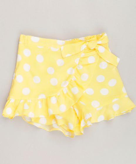 Short-Saia-Infantil-Estampado-de-Poa-com-Transpasse-e-Babado-Amarelo-9257248-Amarelo_1