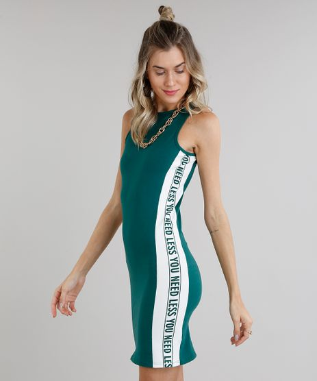 Vestido-Feminino-Curto-Faixa-Lateral-Sem-Manga-Decote-Redondo-Verde-9273379-Verde_1