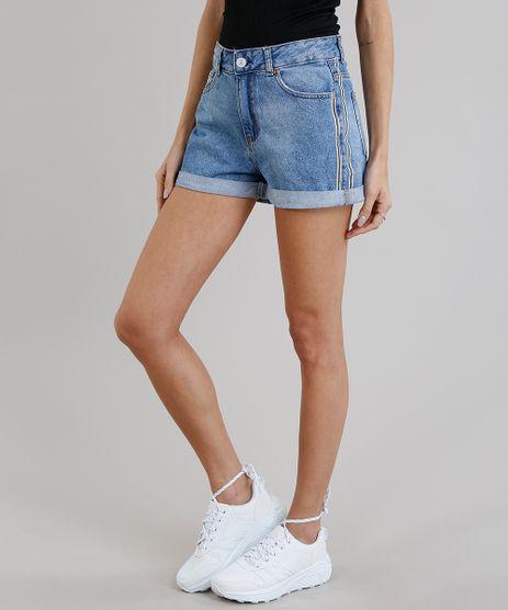 Short-Jeans-Feminino-Mom-Faixa-Lateral-Azul-Claro-9269771-Azul_Claro_1