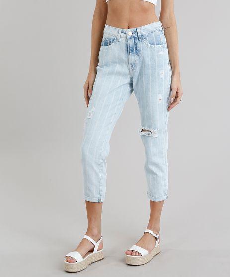 Calca-Jeans-Feminina-Mom-Pants-Listrada-com-Puidos-Azul-Claro-9271808-Azul_Claro_1