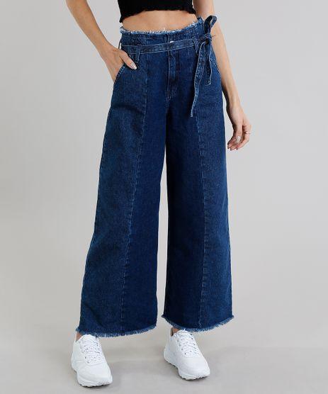 Calca-Jeans-Feminina-Pantacourt-Clochard-Azul-Escuro-9269760-Azul_Escuro_1