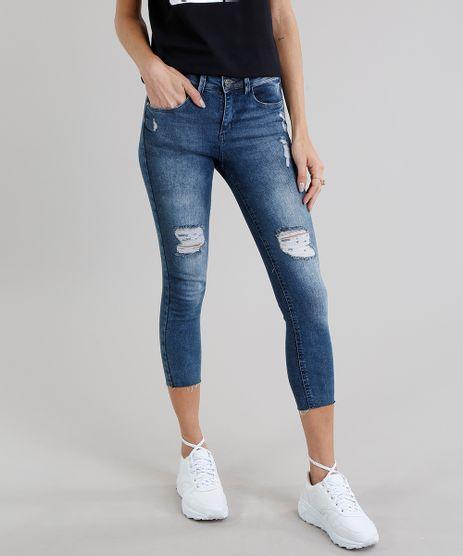 Calca-Jeans-Feminina-Cropped-Destroyed-Azul-Escuro-9113405-Azul_Escuro_1