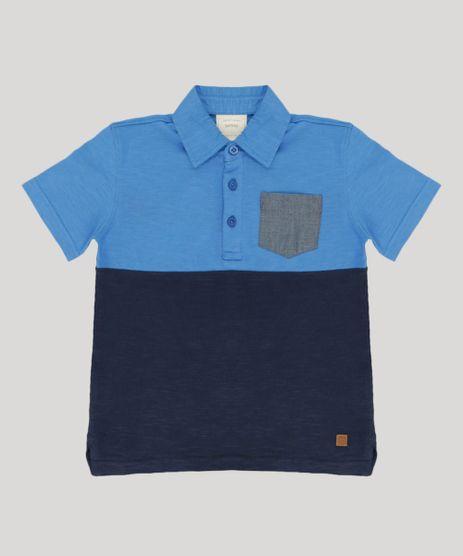 Polo-Infantil-com-Recorte-e-Bolso-Manga-Curta-Azul-9194265-Azul_1