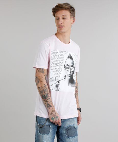 Camiseta-Masculina--Fuck-Off--Manga-Curta-Gola-Careca-Rosa-Claro-9253179-Rosa_Claro_1