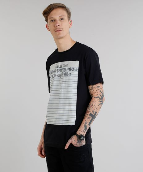 Camiseta-Masculina--Lista-de-Quem-Perguntou-Sua-Opiniao--Manga-Curta-Gola-Careca-Preta-9308172-Preto_1