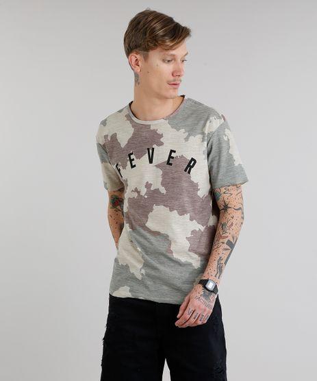 Camiseta-Masculina--Fever--Estampada-Camuflada-Manga-Curta-Gola-Careca-Kaki-9217361-Kaki_1