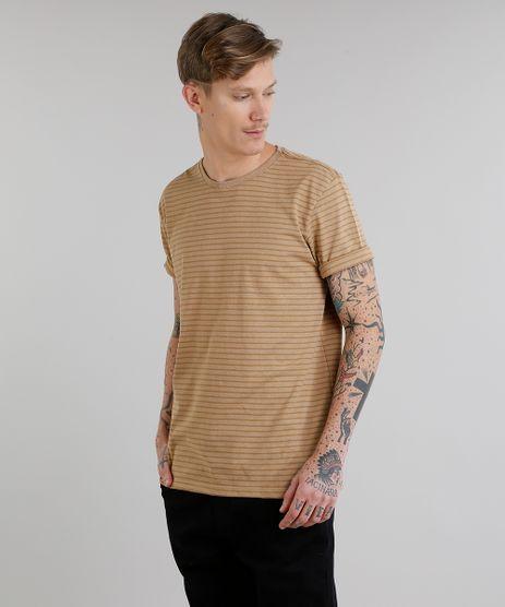 Camiseta-Masculina-Basica-Listrada-Manga-Curta-Gola-Careca-Caramelo-8551673-Caramelo_1