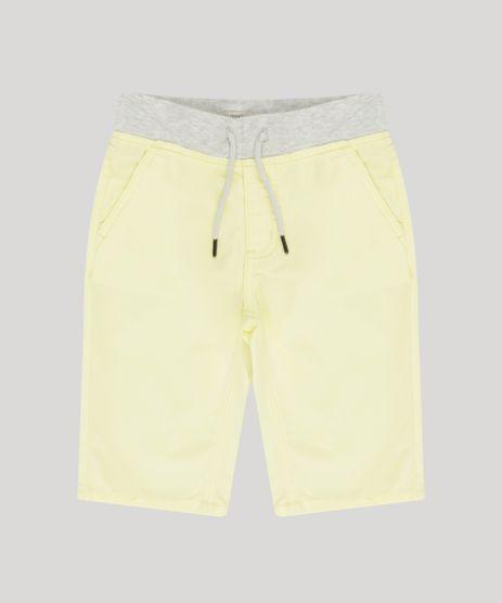 Bermuda-Infantil-com-Cordao-e-Bolso-Amarelo-Claro-9195267-Amarelo_Claro_1