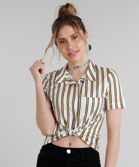 Camisa-Feminina-Cropped-Listrada-Manga-Curta-Off-White-9251210-Off_White_1