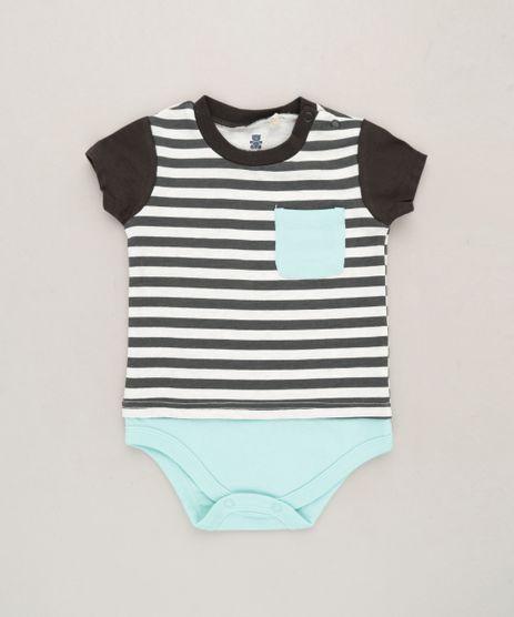 Body-Camiseta-Infantil-Listrado-com-Bolso-Manga-Curta-em-Algodao---Sustentavel-Off-White-9118887-Off_White_1