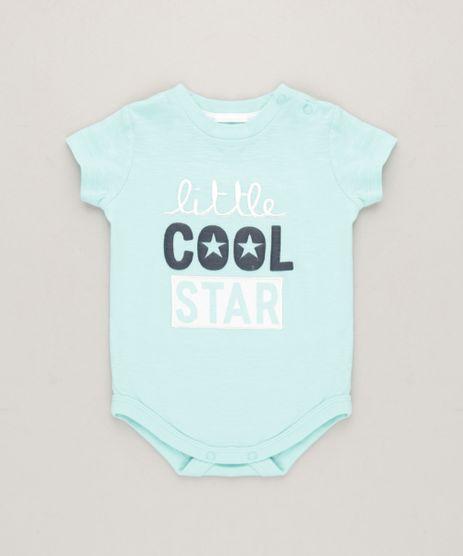 Body-Infantil-com-Bordado---Little-Cool--Manga-Curta-em-Algodao---Sustentavel-Verde-Claro-9118894-Verde_Claro_1