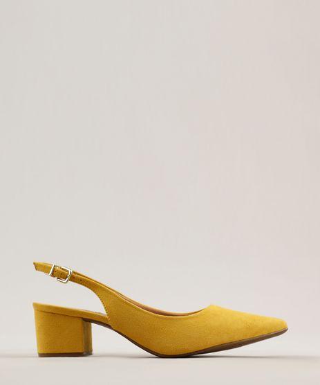 Scarpin-Feminino-Bico-Fino-Vizzano-em-Suede-Amarelo-Escuro-9283928-Amarelo_Escuro_1