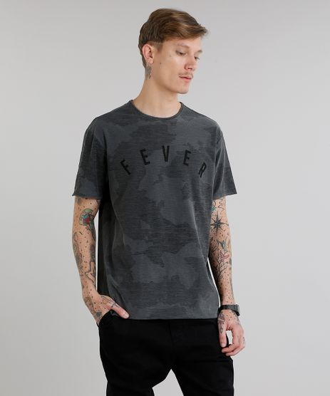 Camiseta-Masculina--Fever--Estampada-Camuflada-Manga-Curta-Gola-Careca-Chumbo-9217361-Chumbo_1