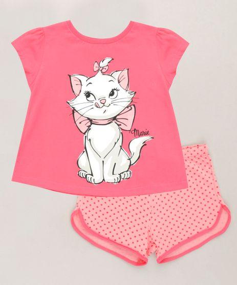 Pijama-Infantil-Marie-Manga-Curta-em-Algodao---Sustentavel-Rosa-Escuro-9223607-Rosa_Escuro_1