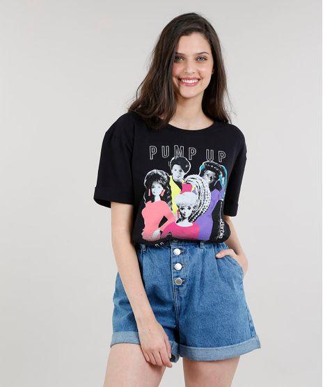 T-shirt-Feminina-Barbie--Pump-It--Manga-Curta-Preta-9329757-Preto_1